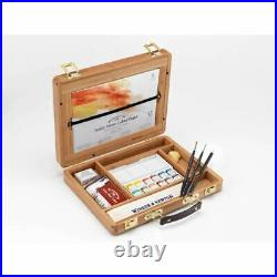 Winsor & Newton Professional Watercolour Paint Half Pan Bamboo Box Set