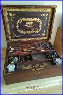 Winsor & Newton Victorian Artist's Watercolour Box Rare & Superb