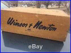 Winsor & Newton Watercolor 3 Drawer Dovetailed Advertising Display Box Usa