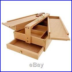 Art Supply Box Wood Art Craft Machinist Cabinet Toolbox