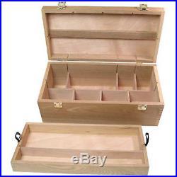 Art Supply Box Wood Box Supply Chest Art Craft Tools