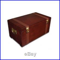 Wooden Artist Supply Box Acrylic Watercolor Oil Paint Chest Art Set 80 Piece