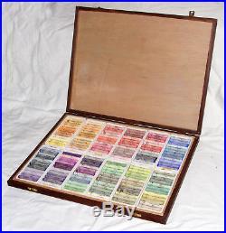 Wooden Box Of 144 Daler-rowney Soft Pastels
