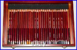 Wooden Box Of 90 Derwent Artist Quality Coloured Pastel Pencils