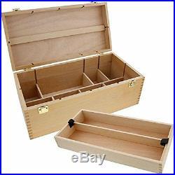 Wooden Multifunctional Box Art Sewing Tool Supply Large Storage Box Case Decor